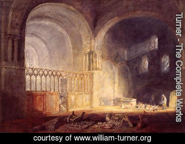 Turner - Transept Of Ewenny Priory  Glamorganshire