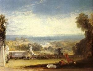 Turner - View From The Terrace Of A Villa At Niton  Isle Of Wight  From Sketches By A Lady