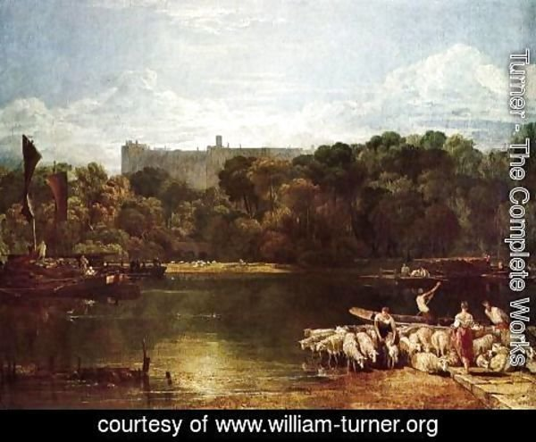 Turner - Windsor Castle From The Thames